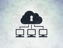 Security concept: Cloud Network on Digital Paper Royalty Free Stock Image