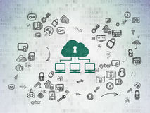 Security concept: Cloud Network on Digital Paper Royalty Free Stock Photo