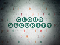Security concept: Cloud Security on Digital Paper Royalty Free Stock Images