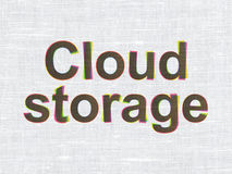 Security concept: Cloud Storage on fabric texture Stock Photo