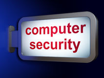 Security concept: Computer Security on billboard background Royalty Free Stock Image