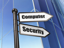 Security concept: Computer Security on Building background Royalty Free Stock Images