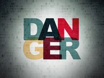 Security concept: Danger on Digital Data Paper background Stock Photography