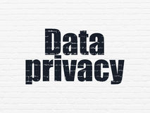 Security concept: Data Privacy on wall background Royalty Free Stock Images