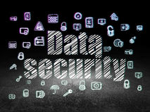 Security concept: Data Security in grunge dark Royalty Free Stock Photo