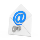 Security Concept. E-mail Sign in Envelope with Key and Keylock. Stock Photography