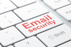 Security concept: Email Security on computer Stock Images
