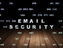 Security concept: Email Security in grunge dark Royalty Free Stock Images