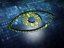 Security concept: Eye on digital screen background Royalty Free Stock Photography
