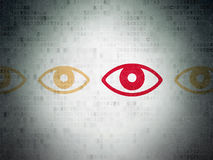 Security concept: eye icon on Digital Paper Royalty Free Stock Image