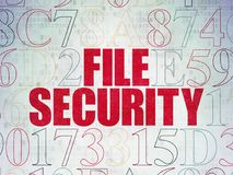 Security concept: File Security on Digital Data Paper background. Security concept: Painted red text File Security on Digital Data Paper background with Royalty Free Stock Images