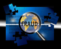 Security Concept Focus Fraud. An image for the concept of focus on world wide security and fraud. Image shows rows of digital stream letters and numbers under a Royalty Free Stock Images
