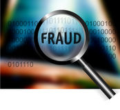 Security Concept Focus Fraud Investigation. An image for the concept of focus on world wide security and fraud investigation. Image shows rows of digital stream Royalty Free Stock Photography