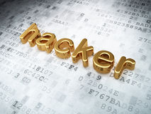 Security concept: Golden Hacker on digital Stock Images