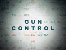 Security concept: Gun Control on Digital Data Paper background Stock Photography