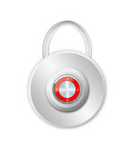 Security concept with locked red combination Stock Images