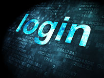 Security concept: login on digital background Royalty Free Stock Image