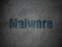 Security concept: Malware on grunge wall background Royalty Free Stock Images