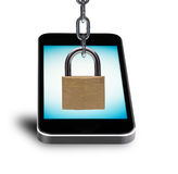 Security concept with mobile phone Stock Image