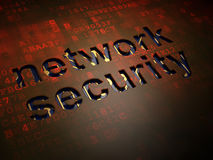 Security concept: Network Security on digital Stock Image