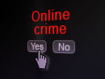 Security concept: Online Crime on digital computer Stock Image