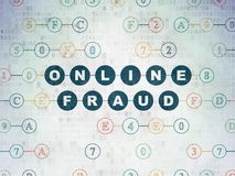 Security concept: Online Fraud on Digital Data Paper background Stock Photo