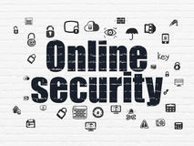Security concept: Online Security on wall Royalty Free Stock Photography