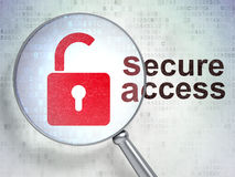 Security concept: Opened Padlock and Secure Access Royalty Free Stock Photos