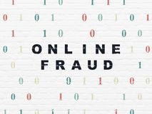 Security concept: Online Fraud on wall background stock photography