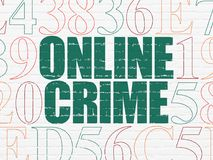 Security concept: Online Crime on wall background Royalty Free Stock Photography