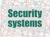 Security concept: Security Systems on wall background Stock Photo