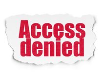 Security concept: Access Denied on Torn Paper background Royalty Free Stock Photography