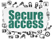 Security concept: Secure Access on Torn Paper Royalty Free Stock Image