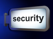 Security concept: Security on billboard background Royalty Free Stock Photography