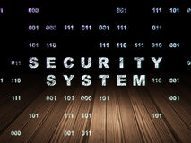 Security concept: Security System in grunge dark Stock Photo