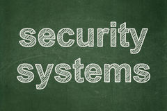 Security concept: Security Systems on chalkboard background Royalty Free Stock Images