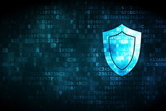 Security concept: Shield on digital background Stock Image