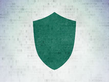 Security concept: Shield on Digital Paper Royalty Free Stock Photography