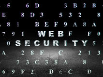 Security concept: Web Security in grunge dark room Royalty Free Stock Photo