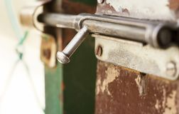 Wooden gate locker Stock Images