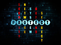 Security concept: word Protect in solving Royalty Free Stock Images