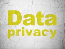 Security concept: Data Privacy on wall background Stock Photo