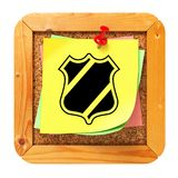Security Concept - Yellow Sticker on Message Board. Royalty Free Stock Photography