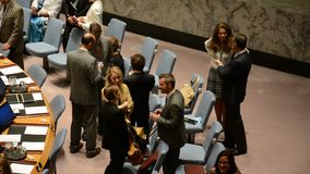 Security Council chamber United Nations stock footage