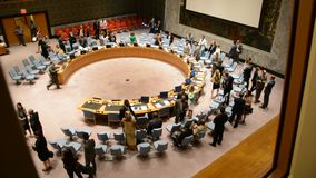 Security Council chamber United Nations stock video footage