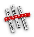 Security Crossword Stock Photo