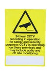 Security. Cut out of a CCTV security sign Stock Images