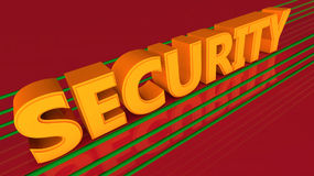 Security. 3d design of 3d words Stock Images