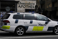 SECURITY_DANISH POLICE VEHICLE (politibil) Royalty Free Stock Images