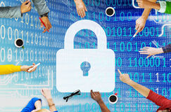 Security Data Protection Inofrmation Lock Save Private Concept Stock Images
